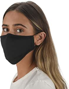 Slumbies! Cloth Face Coverings for Women & Men - Washable Face Coverings - Reusable Face Coverings - Flexible Nose Bridge - Adjustable Ear Bands - 5 Layer Filters Included - Black