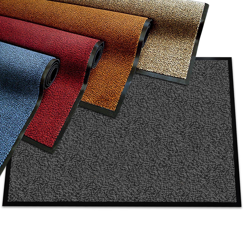 Etm® Schmutzfangmatte - Note 1,6  Sieger Preis-Leistung - Fußmatte in vielen Größen - Türmatte Fußabstreifer für Haustür innen und außen (Anthrazit-Schwarz, 90x600 cm)