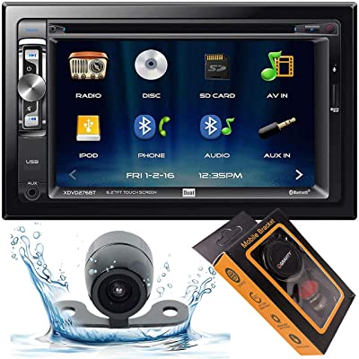 "Dual Electronics XDVD276BT 6.2"" LCD Touch Screen Double Din Car Stereo with HD Camera + Gravity Magnet Phone Holder Bundle (XDVD276BT+XV20C+GMH): Electronics"