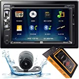 """Dual Electronics XDVD276BT 6.2"""" LCD Touch Screen Double Din Car Stereo with HD Camera + Gravity Magnet Phone Holder Bundle (X"""