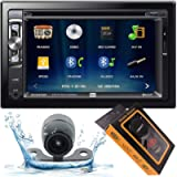 Dual Electronics XDVD276BT 6.2' LCD Touch Screen Double Din Car Stereo with HD Camera + Gravity Magnet Phone Holder…
