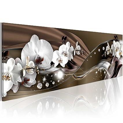 murando - Acrylglasbild Blumen 120x40 cm - Glasbilder - Wandbilder XXL -  Wandbild - Bilder -Orchidee Diamant bA-0072-kc