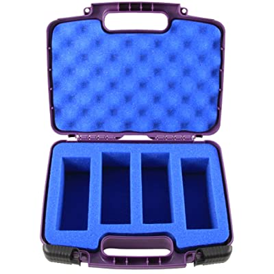 CASEMATIX Toy Box Travel Case Fits 4 WowWee Untamed Raptor , Fingerlings Unicorn , Fingerlings Monkey and More in Purple Monkey Case with Custom Blue Foam: Toys & Games