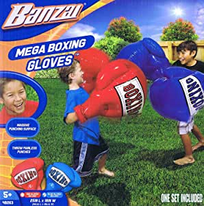 Banzai Guantes de Boxeo inflables para Niños (1 Unidad): Amazon.es ...