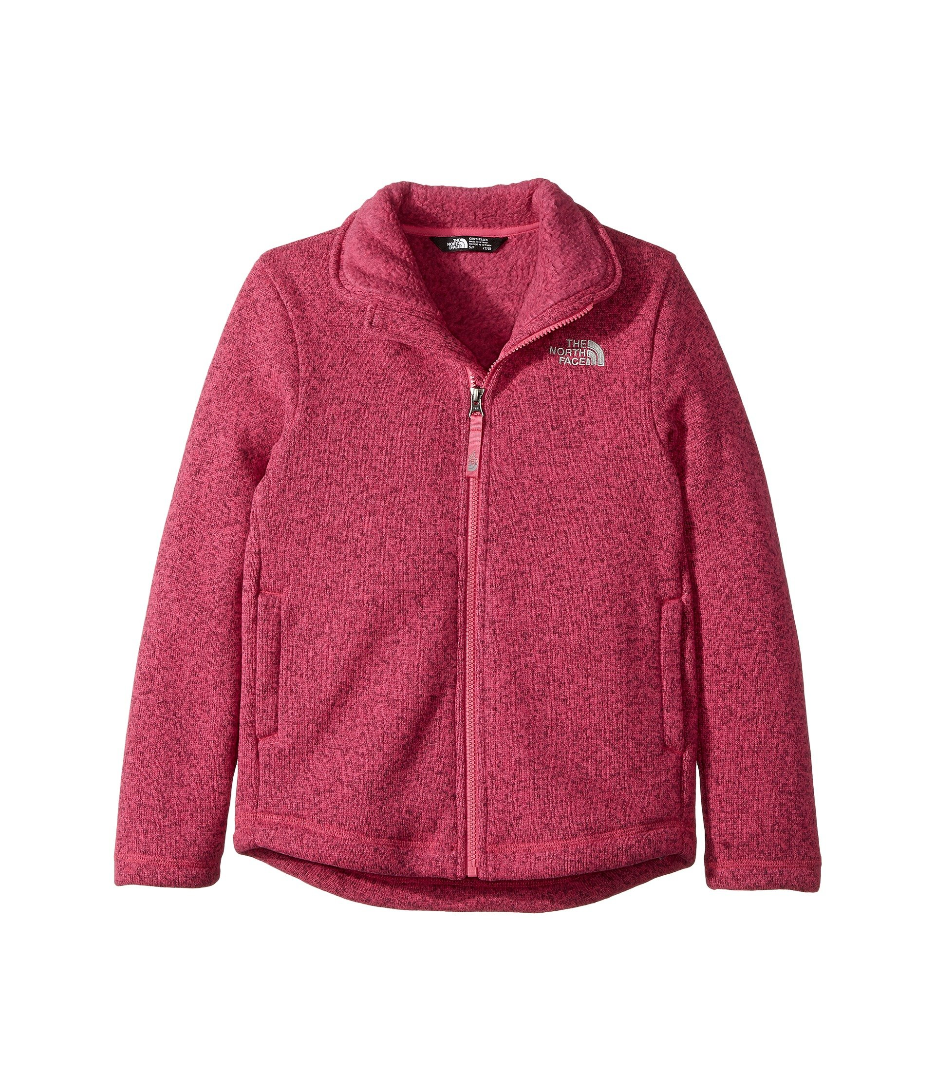 The North Face Kids Crescent Full Zip Little Kids/Big Kids Petticoat Pink Heather Girl's Coat