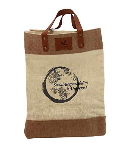 4ae19a1acae8 Grocery Bag Multi-purpose Shop Carry Heavy Duty Jute Market Tote Grocery  Bag with Leather Handle