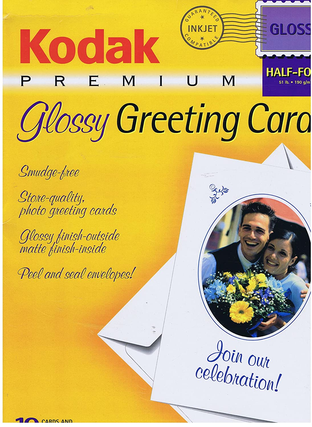 Kodak premium glossy greeting cards 10 cards and envelopes half fold kodak premium glossy greeting cards 10 cards and envelopes half fold gcp 502 cat 833 4476 amazon office products kristyandbryce Gallery