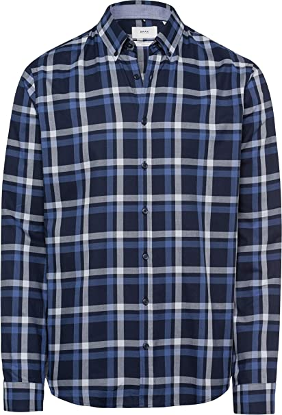 BRAX Dries Broken Oxford Chemise Casual Homme