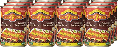 Amazon.com : Casa Fiesta Enchilada Sauce, Mild, 10-Ounce Jars (Pack of 12) : Packaged Mexican Enchiladas Kits : Grocery & Gourmet Food