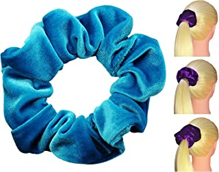 product image for Velvet Scrunchies Premium Plush Soft Ponytail Holders Scrunchie King Made in USA