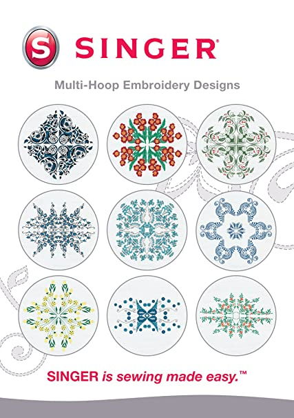 64ac19afa7429 SINGER Multi-Hoop Embroidery Designs CD for Futura with 10 Designs