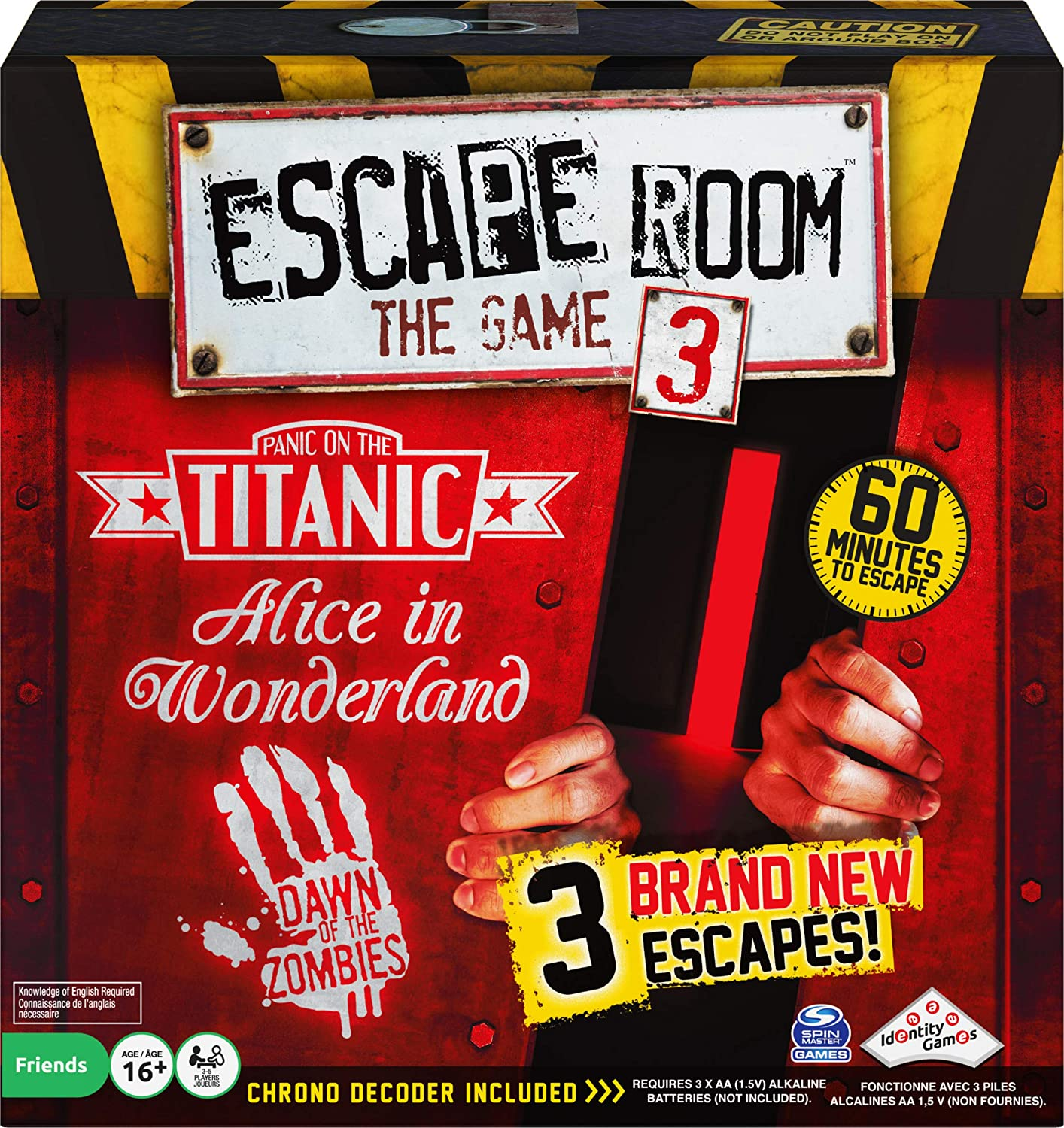 Escape Room The Game With 3 Thrilling Escape Rooms To Play For Ages 16 And Up Edition May Vary Toys Games
