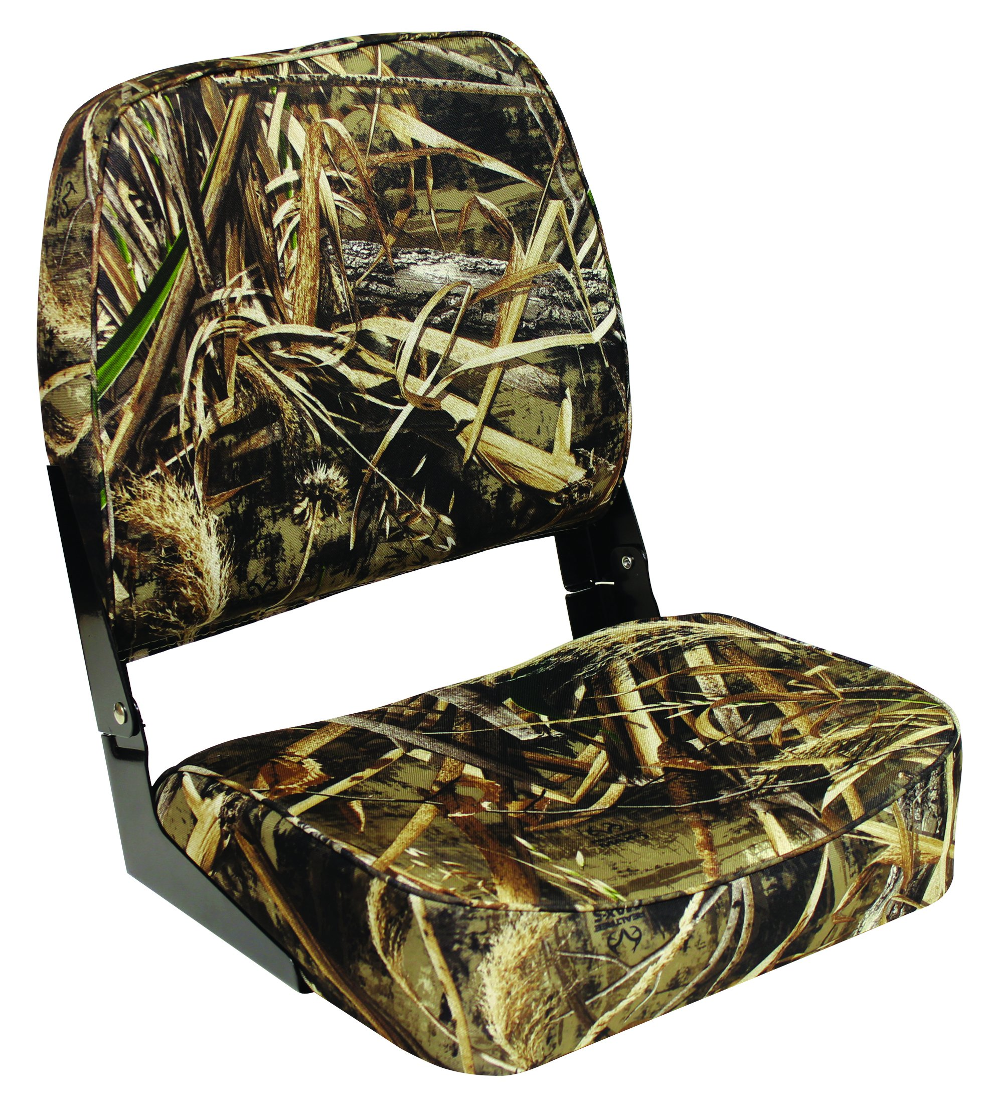 Wise Super Value Series Folding Boat Seat, Realtree Max 5 Camo by Wise Company