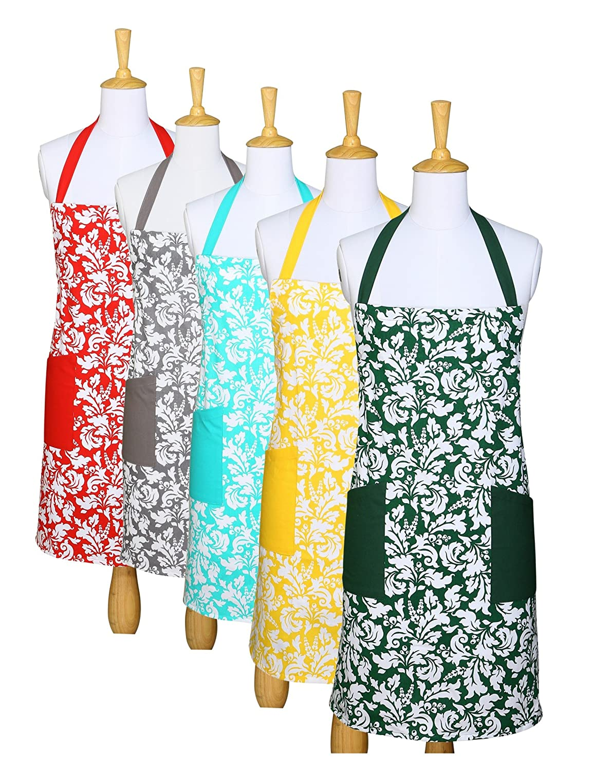Amazon.com: Yourtablecloth Kitchen Apron for Women and Men 100 ...