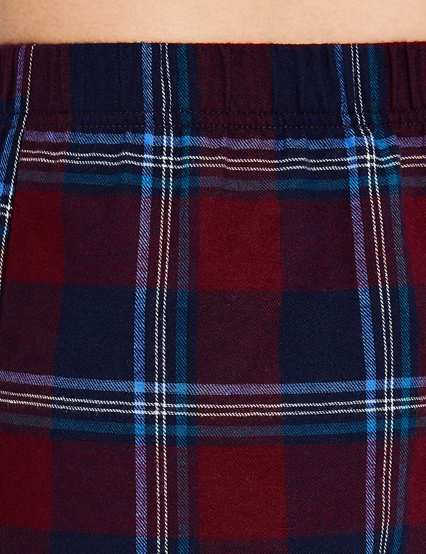 Iris /& Lilly Damen Schlafanzughose Flannel Check Short,2per pack