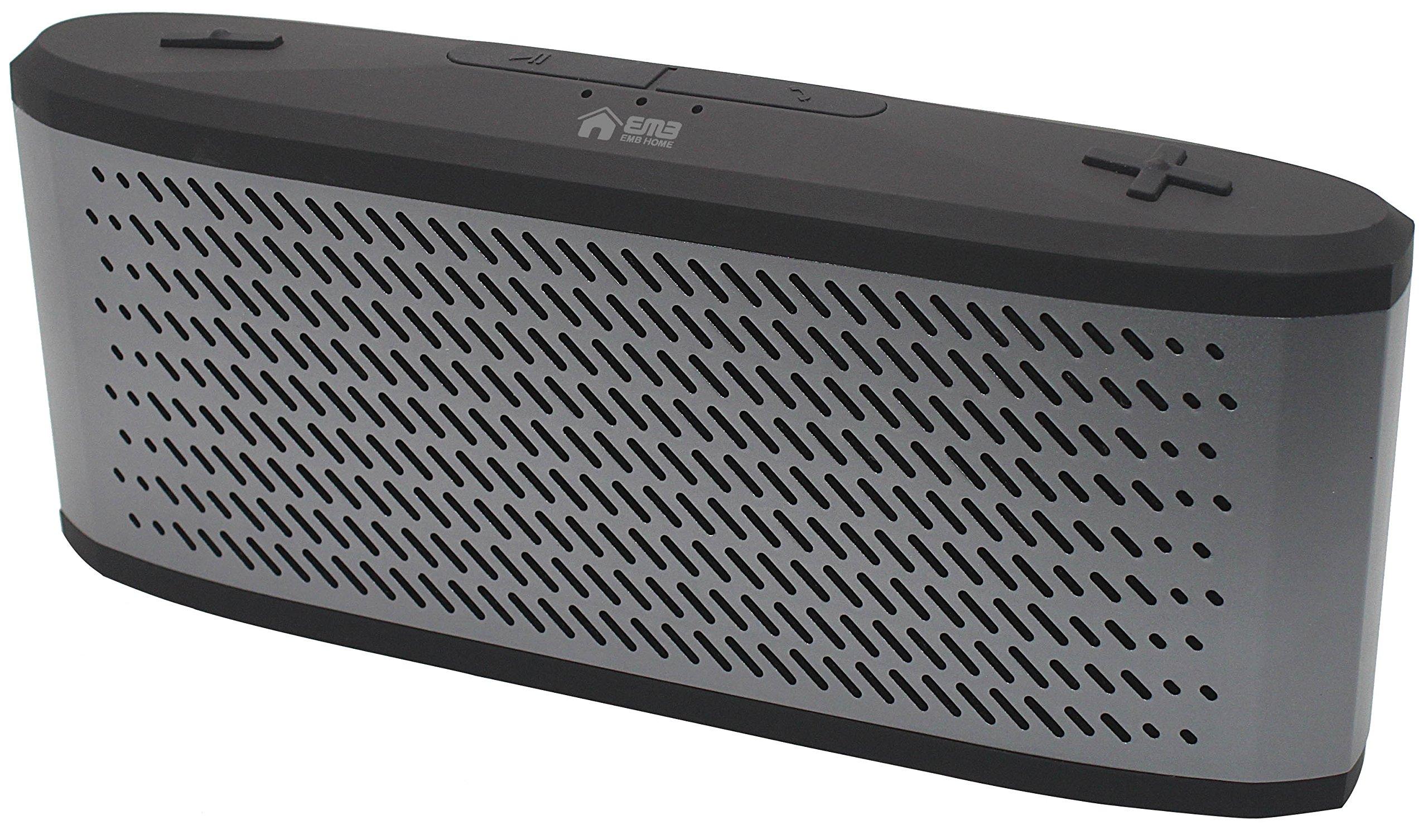 EMB ES950BT-X2 Indoor/Outdoor High-Definition Super Loud Portable Bluetooth Speaker - Grey