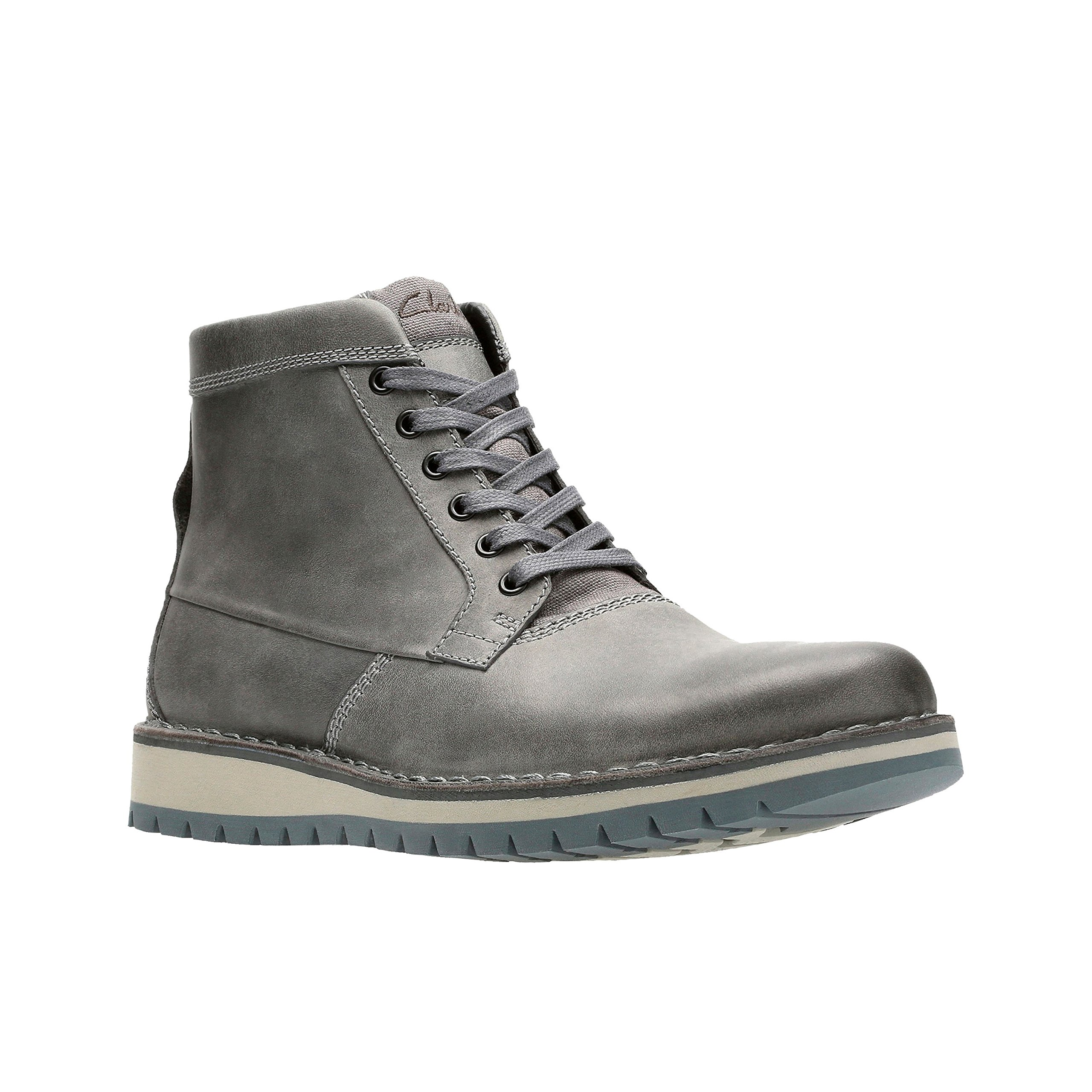 Clarks Varby Top Mens Lace Up Ankle Boots Dark Grey Leather 11.5