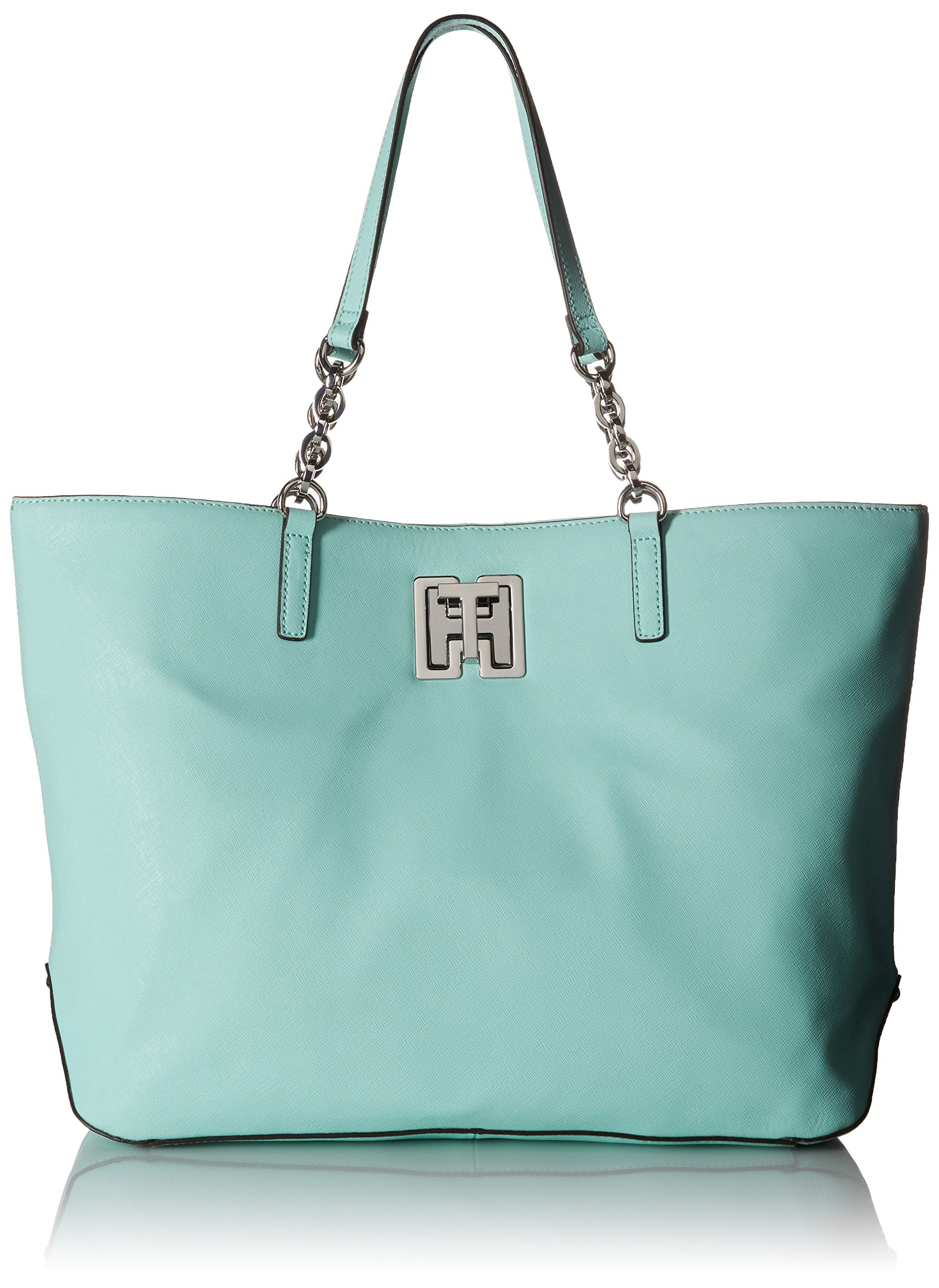 Tommy Hilfiger Clara Tote Top Handle Bag, Sea Glass, One Size by Tommy Hilfiger