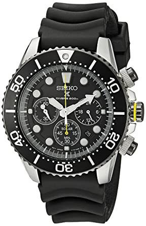 Amazon Com Seiko Men S Ssc021 Solar Diver Chronograph Watch Seiko