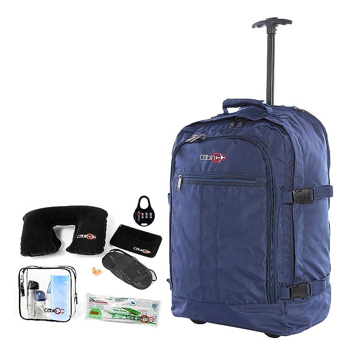 Cabina GO Trolley MAX 5530 Correas retráctiles con cremallera - Mochila de equipaje de mano/