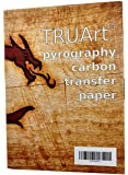TRUArt Two Sided Carbon Transfer Blue Tracing Paper for Woodworking and Transfering or Mirroring Wood Burning Patterns - 100 Sheets