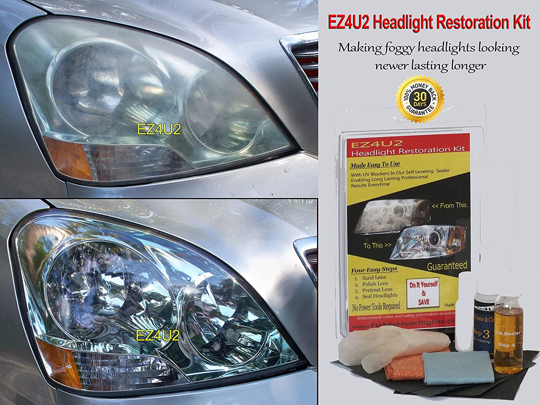 Amazon Com Ez4u2 Headlight Restoration Kit With Uv Blocker Sealer