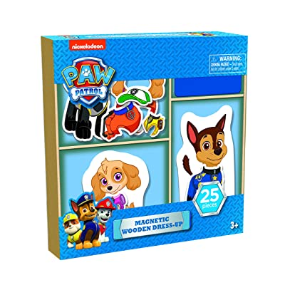 Paw Patrol 25 piece Magnetic Wood Dress Up Puzzle: Toys & Games [5Bkhe0500591]