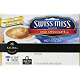 Swiss miss Hot Cocoa, Milk Chocolate, K-Cup Portion Pack for Keurig K-Cup Brewers 12-Count