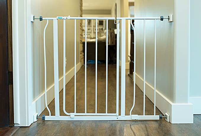 For Child Pressure Mounted Stair Safety Gate Baby Gate Wall Protector 4 Pack Protect Walls /& Doorways From Pet /& Dog Gates Saver No Safety Hazard on Bottom Spindles Wall Nanny
