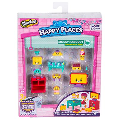 Happy Places Shopkins Season 2 Decorator Pack Mousy Hangout: Toys & Games