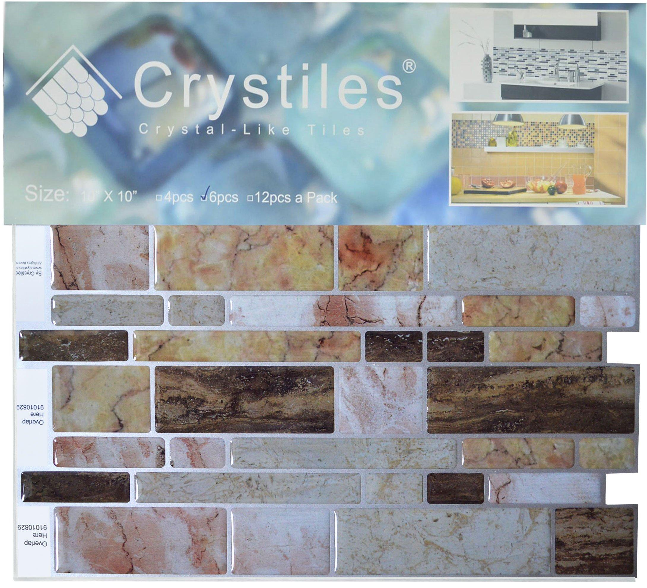 Crystiles peel and stick DIY backsplash tile stick-on vinyl wall ...