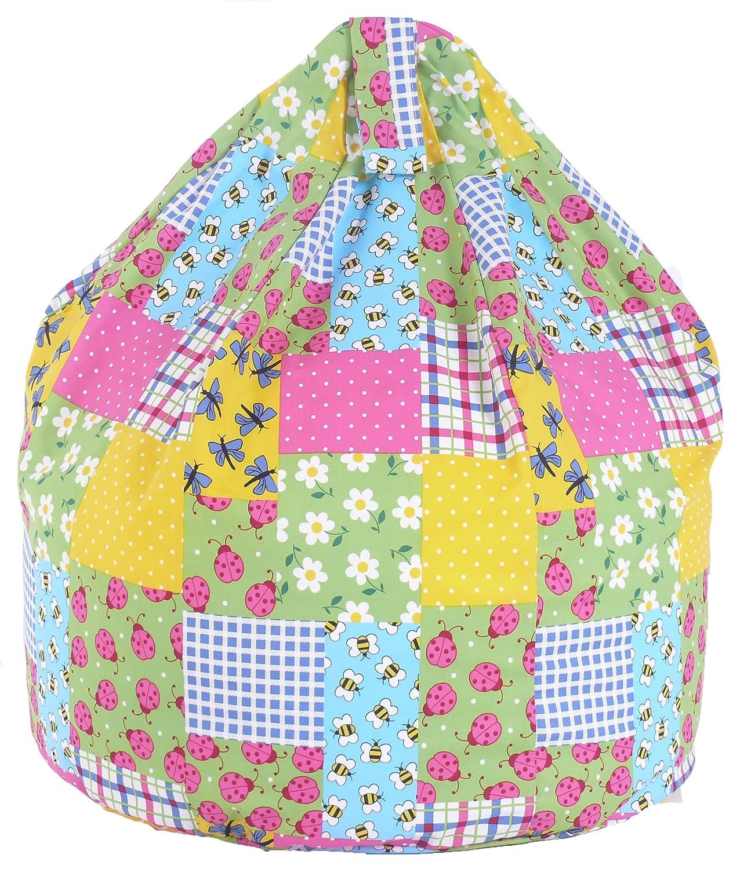 Cotton Patchwork Ladybird Bean Bag Child Size Amazoncouk Kitchen Home