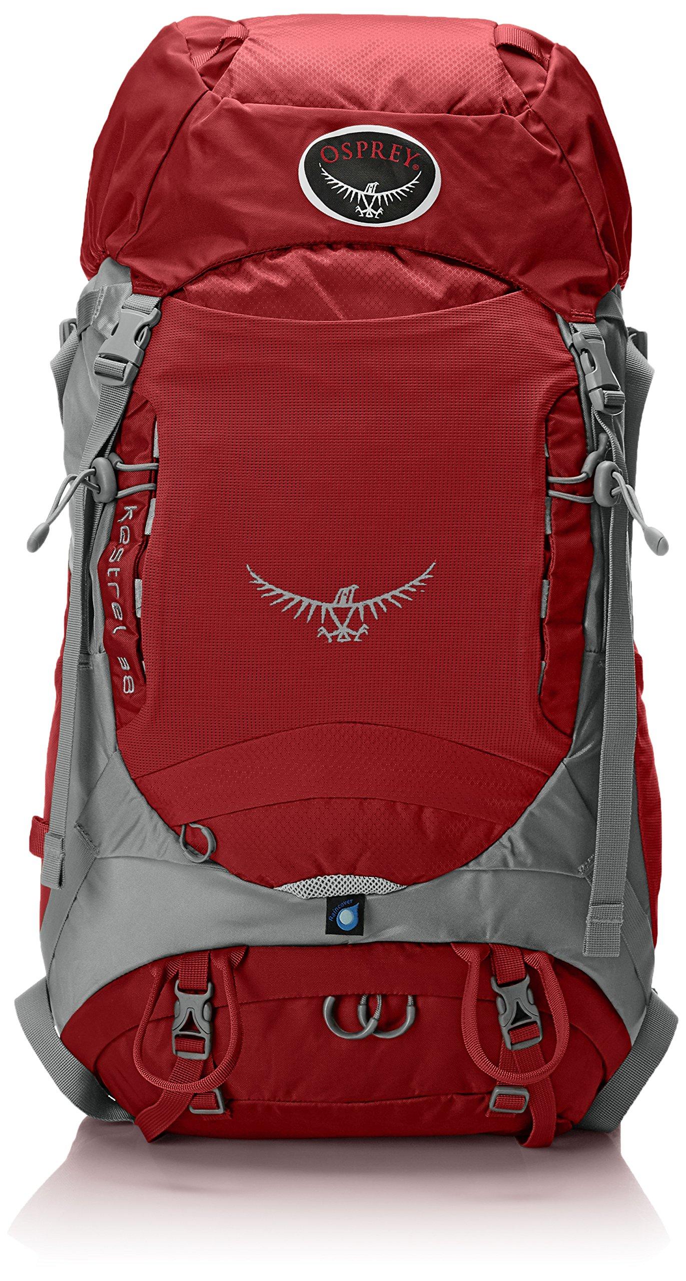 Osprey Packs Kestrel 38 Backpack (2015 Model) (Fire Red, Medium/Large)