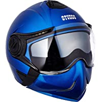 Studds Full Face Helmet Downtown (Flame Blue, XL)