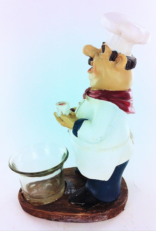 Amazon.com: Turtle King Corp Fat Chef Kitchen Statue Votive Holders ...