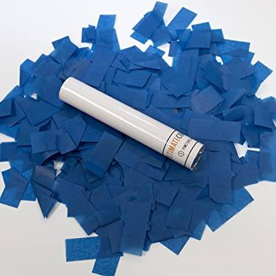"Ultimate Confetti 8 Pack Dark Blue Tissue Confetti Wands-6""- Biodegradable-Flick Sticks-Fun for Events-Weddings-Parties-Gender Reveal-Baby Showers: Health & Personal Care"