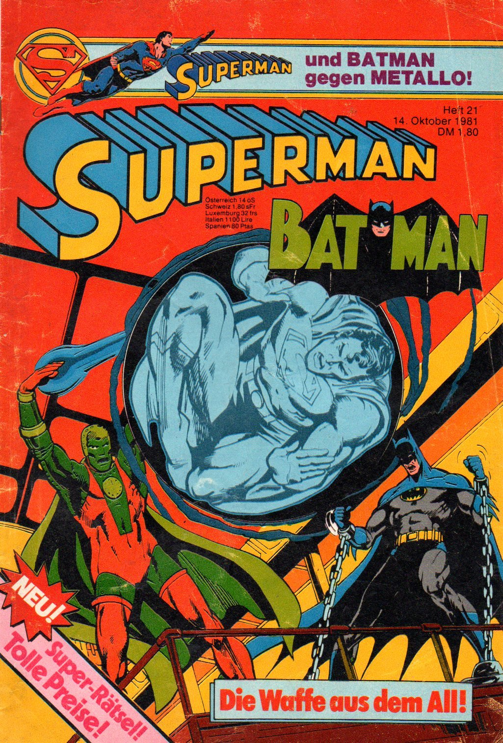 Superman Batman Comic Großband # 21 - Ehapa Verlag 1981 (Superman) Comic – 1981 DC Comics B005WAMQ32 Belletristik - Comic Cartoon