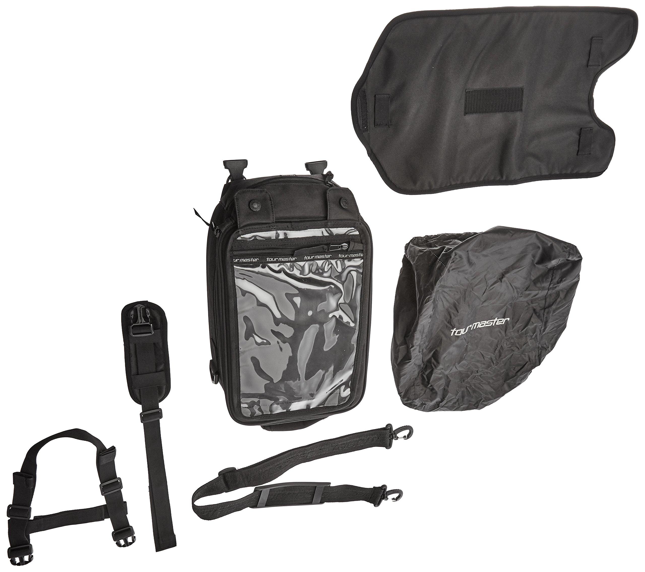Tourmaster 8215-1305-04 Black Select Strap Mount Tank Bag