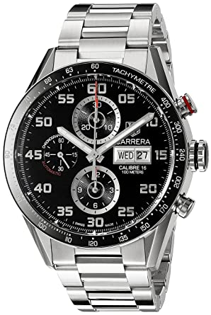 97572bb380f Amazon.com  TAG Heuer Men s CV2A1R.BA0799 Stainless Steel Watch  TAG ...
