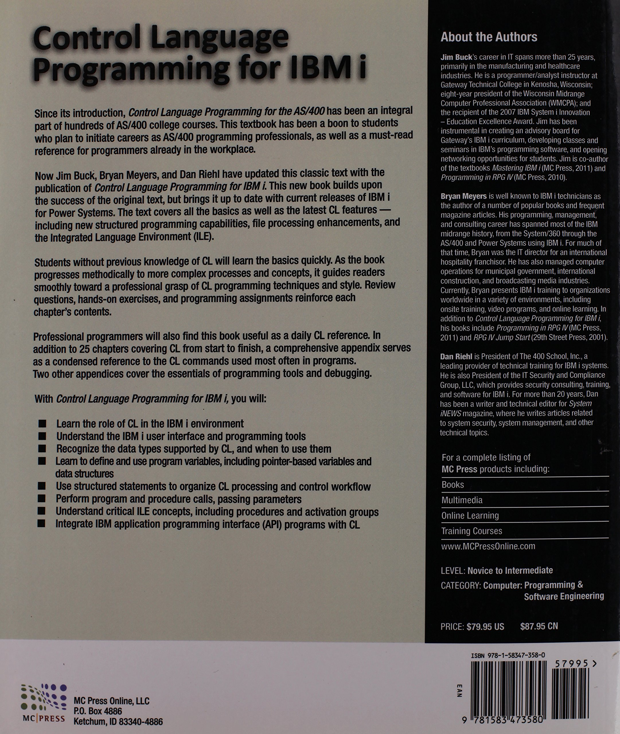 Control Language Programming for IBM i by Mc Press