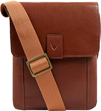 0aa3af5c83 Hidesign Aiden Genuine Leather Small Crossbody Messenger Bag