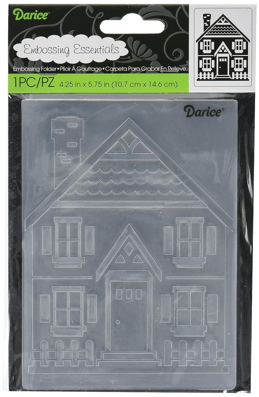Plantilla casa y Valla 3 Unidades Darice Carpetas de estampaci/ón 0.09x5.4x8 cm Plastic