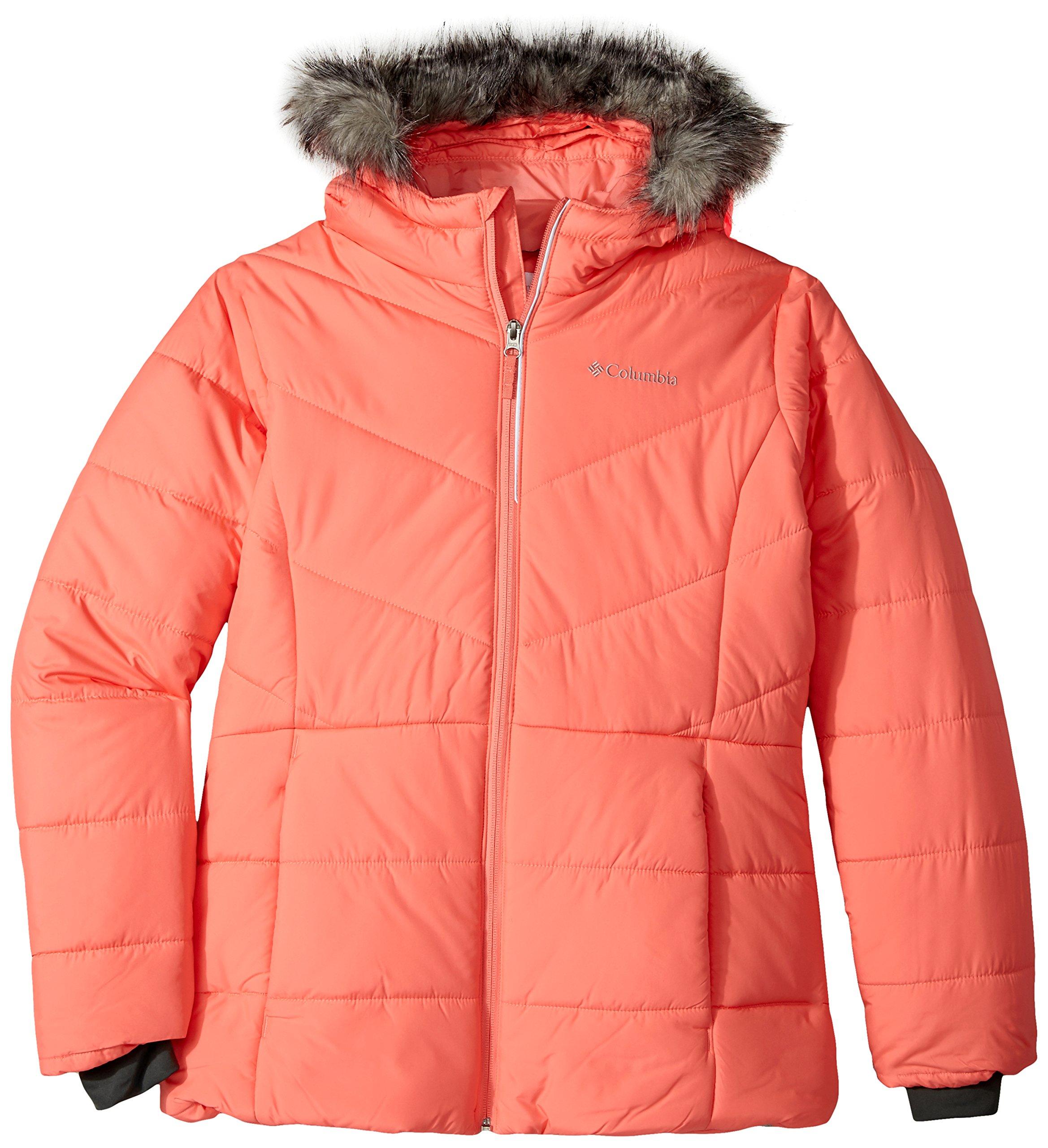 Columbia Big Girls' Katelyn Crest Jacket, Hot Coral, X-Large