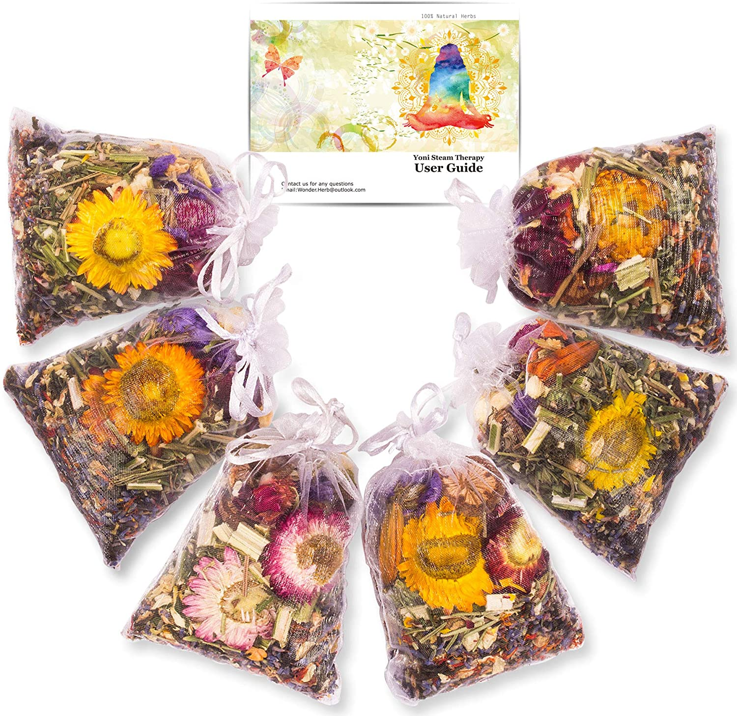 Yoni Steam Herbs for Cleansing Natural (6 oz), V Steam Herbs Detox Kit for Women, Do It Yourself Yoni Herbs for Steaming, Herbal Bath Steaming for Tightening and Fertility, Vaginal Steam Bath Home