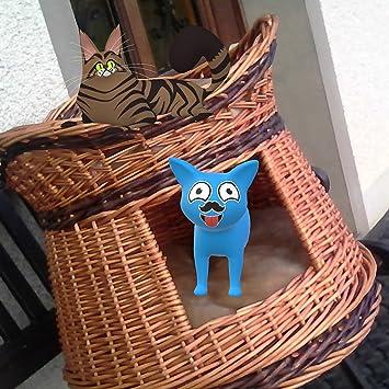 Cama, nicho de mimbre para gatos gato cesta de mimbre, casa de dos pisos, Torre para gato: Amazon.es: Productos para mascotas