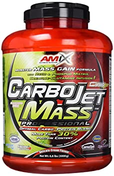 Amix Carbojet Mass Professional 3 kg Fresa y Platano: Amazon.es ...