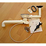 """Blanco Ablaufgarnitur 3,5"""" mit Exzenterbedienung und Überlauf oval kpl."""
