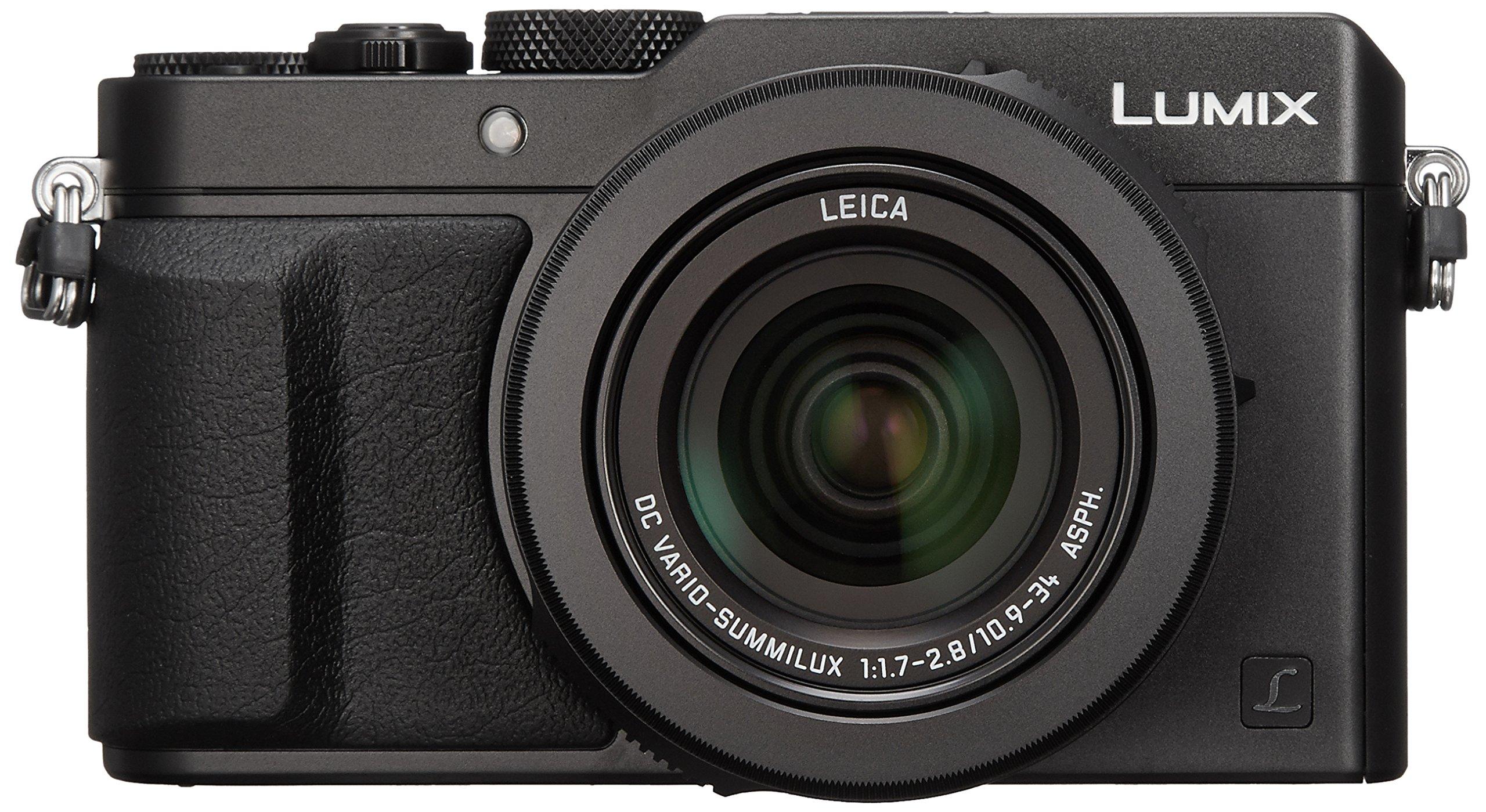 Panasonic Lumix DMC-LX100 Digital Camera, 12.8MP, 3.0-Inch Display, 24-75mm Leica DC Vario-Summilux f/1.7-2.8 Lens, 4K Ultra HD Video, HDMI/USB, Wi-Fi, NFC (Black) - International Version by Panasonic