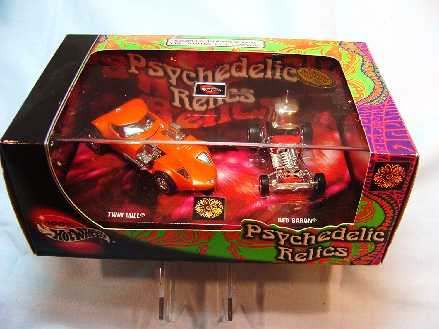 2002 Hot Wheels 2 Car Box Set Psychedelic Relics with the Twin Mill and the ROT Baron by Hot Wheels
