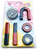 StepsToDo Kids Magnet Set and Magnetic Compass (Multicolour)